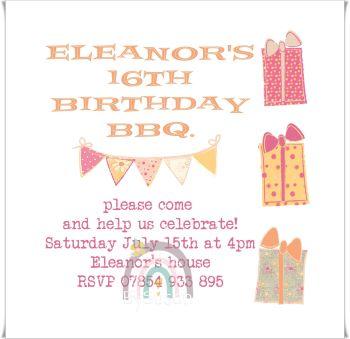 Birthday Gift Invite