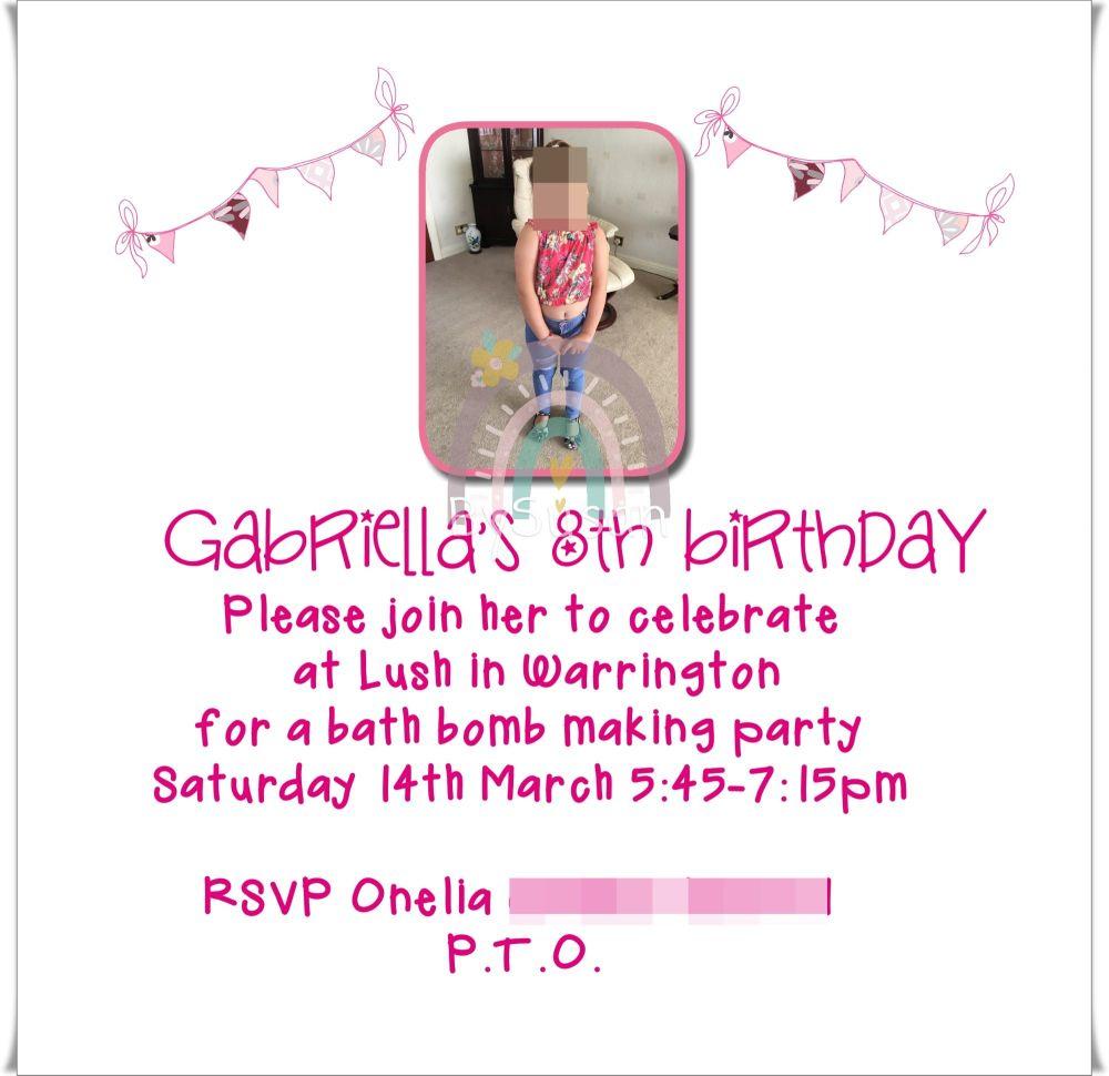 Bunting Invite 2