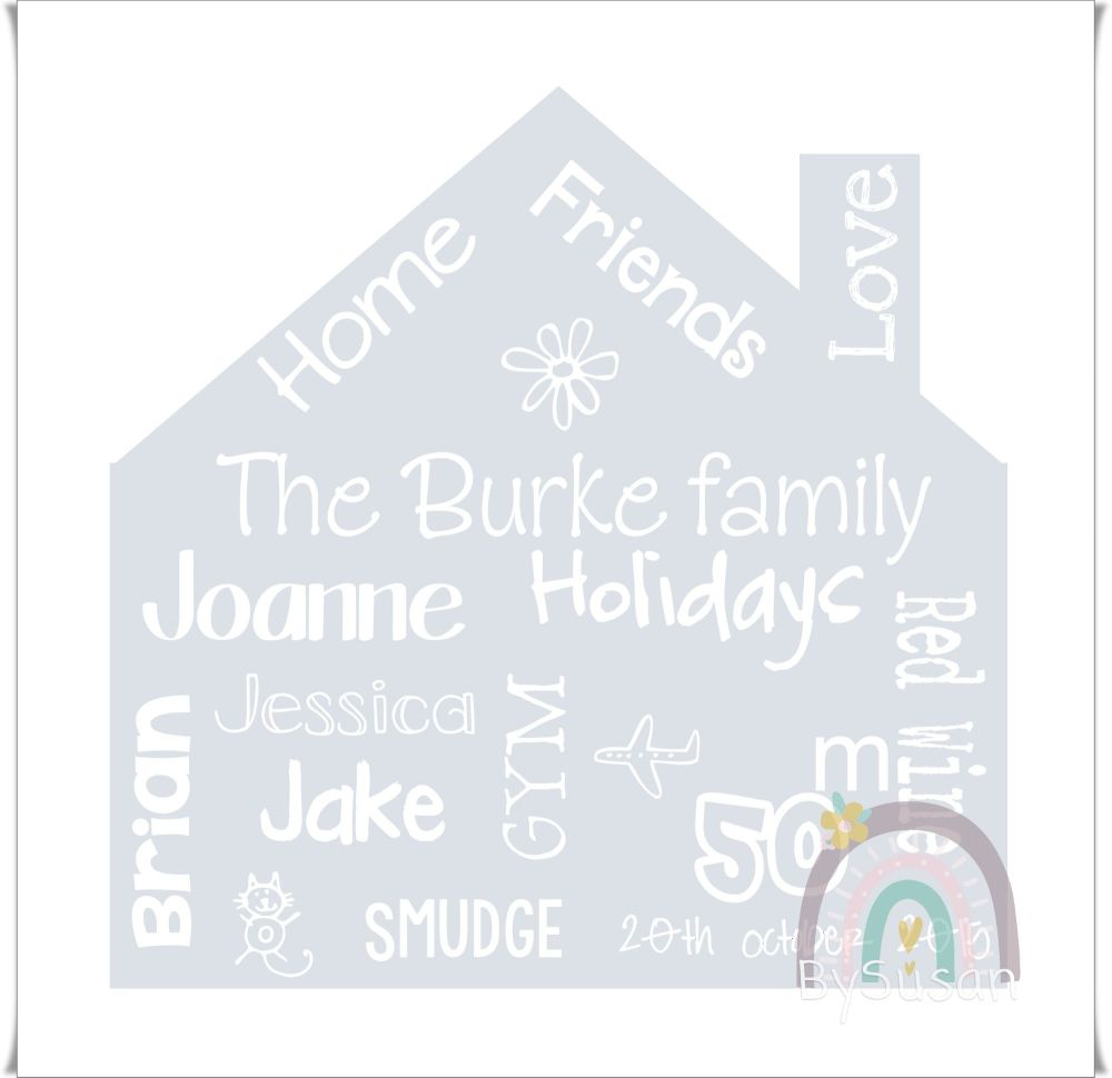 House Shaped Keepsake