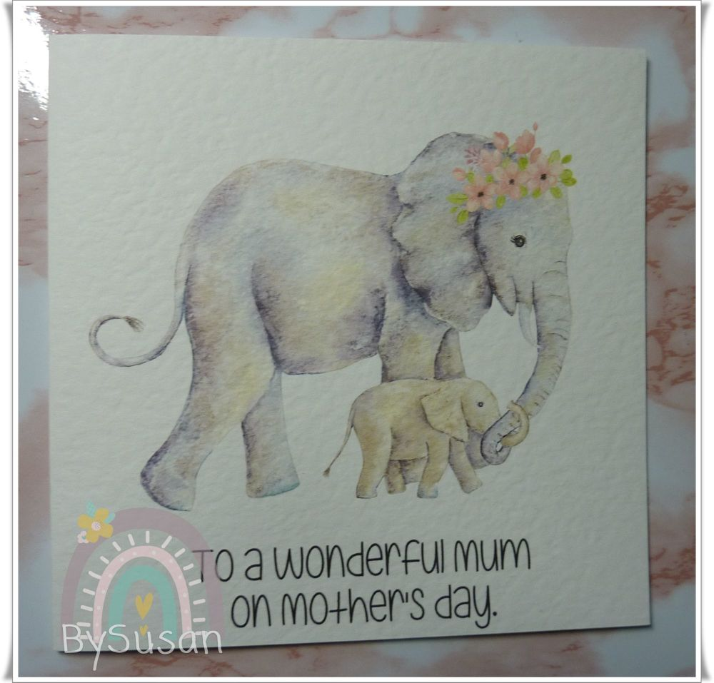 Elephant Mummy and Baby