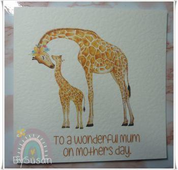 Giraffe Mummy and Baby