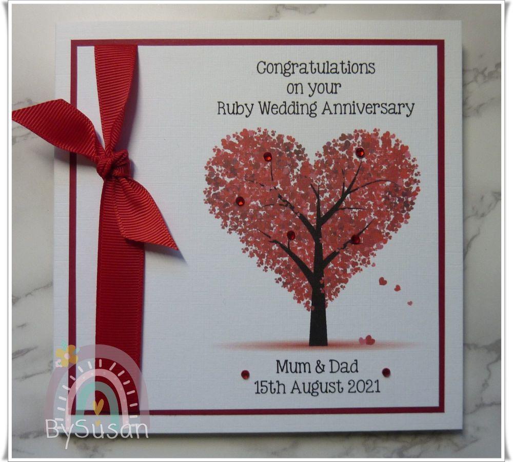 Ruby Anniversary Tree