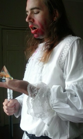 White Vampire shirt