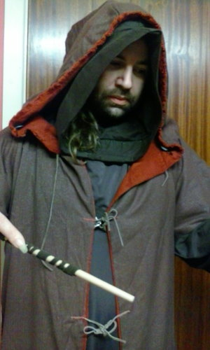 Mage/ Wizard Hooded cloak - Reversible