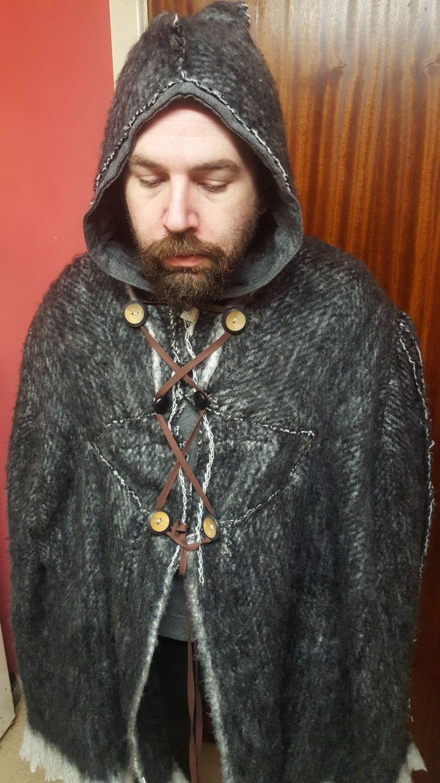 Larp Druid Woollen Cloak