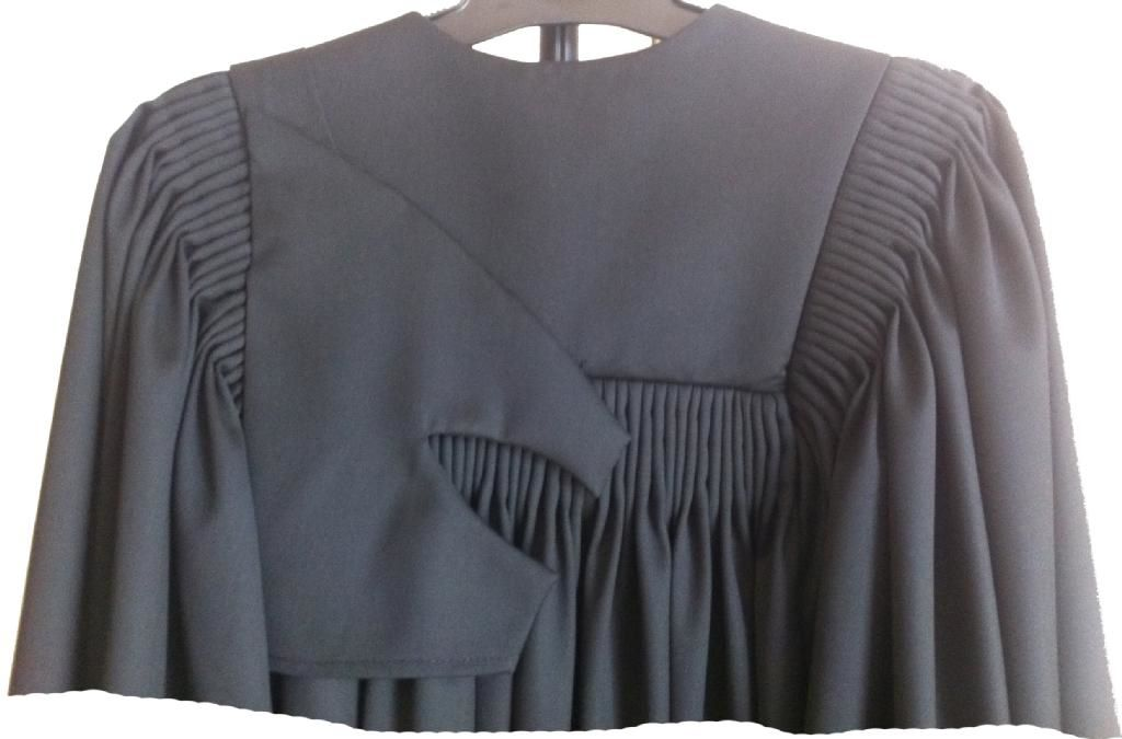 legal costume wear detail barrister