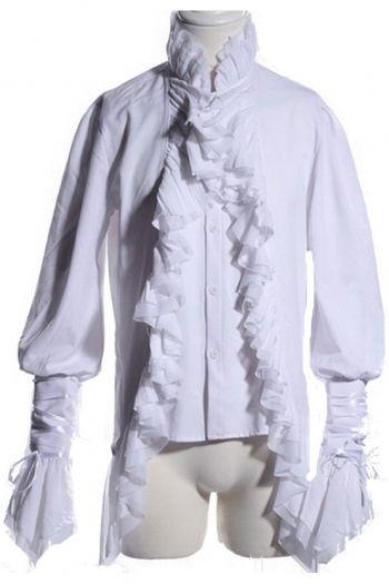 Vampire or Ghost ruffle shirt