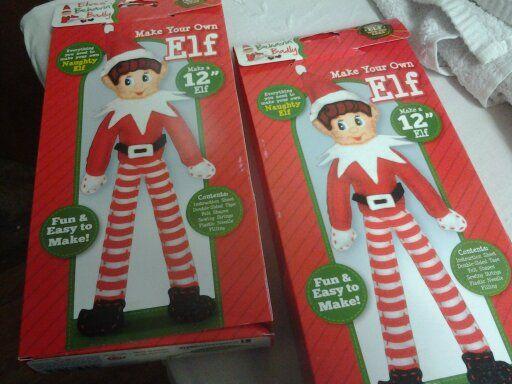 2 x Christmas Elf Make -it Craft kits