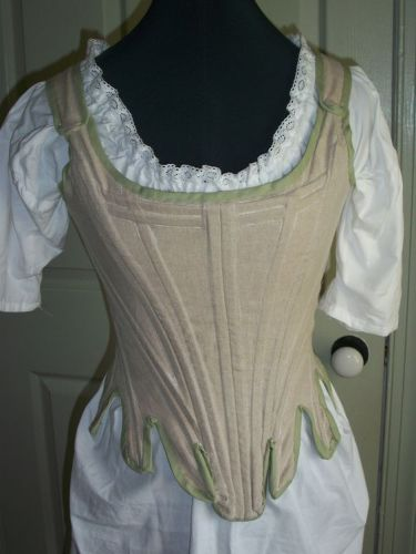 Historical Boned corset with Chemise gown