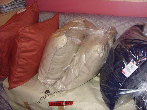 Irish linen large cushions