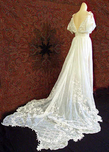 edwardian lace gown