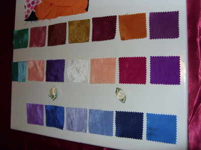 Bridal Gloves & 1 metre Fabric samples