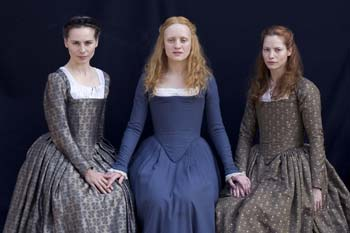 Elizabethan young queen and ladies
