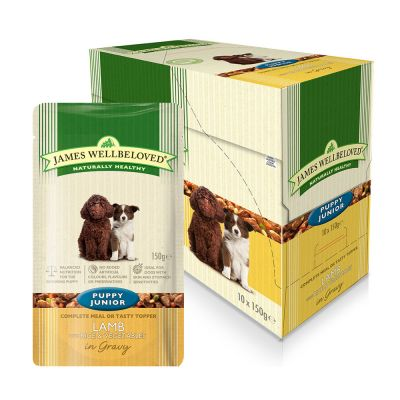 J Wellbeloved Puppy Lamb&Rice 10x150g Pouch