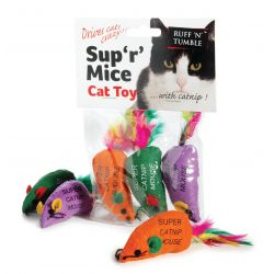 Ruff 'N' Tumble Sup 'R' Mice & Catnip 3pcs