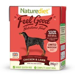 Naturediet Feel Good Chicken & Lamb 18 x 390g