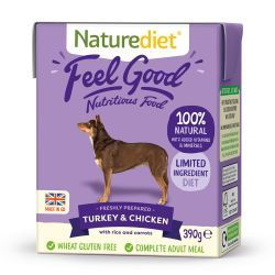 Naturediet Feel Good Turkey & Chicken 18x390g