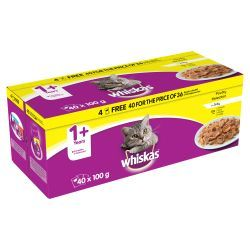 Whiskas 1+ Pouch Poultry 40/36 x 100g