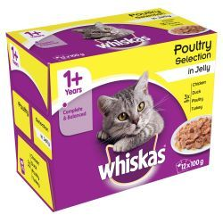 Whiskas 1+ Pouch Poultry Selection in Jelly 12x100g