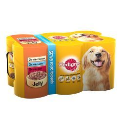 Pedigree Dog Tins Mixed Selection in Jelly 6x385g
