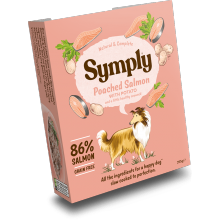 Symply Tray Adult Grain Free - Poached Salmon 395g