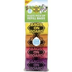 Bags On Board Waste Pick Up Refill Bags Rainbow 60's