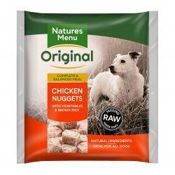 Natures Menu Original Chicken Nuggets with Vegetables & Brown Rice 1kg