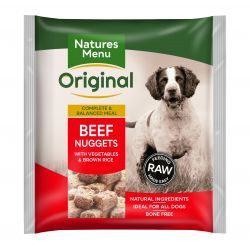 Natures Menu Original Beef Nuggets with Vegetables & Brown rice 1kg