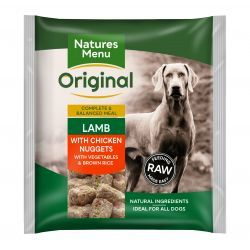 Natures Menu Original Lamb with Chicken Nuggets with Vegetables & Brown Rice 1kg