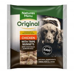 Natures Menu Original Chicken with Tripe Nuggets with Vegetables & Brown Rice 1kg