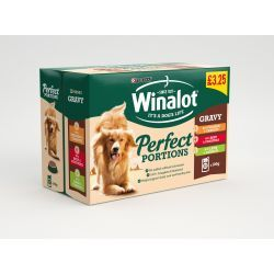 Winalot Pouch Perfect Portions in Gravy P/M £3.25 12pack