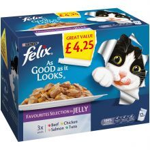 Felix As Good As It Looks Favourites Selection In Jelly 12x100g P/M £4.25