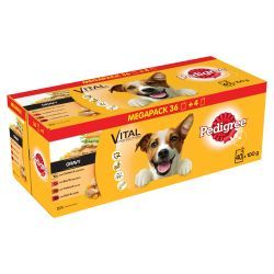 Pedigree Dog Pouches Mixed Selection in Gravy 40 for 36 Mega Pack