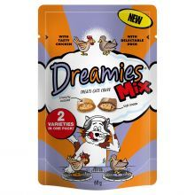 Dreamies Mix Cat Treats with Tasty Chicken & Delectable Duck 60g