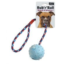Ruff 'N' Tumble Rub 'R' Ball Rope & Ball Tug Toy 6cm