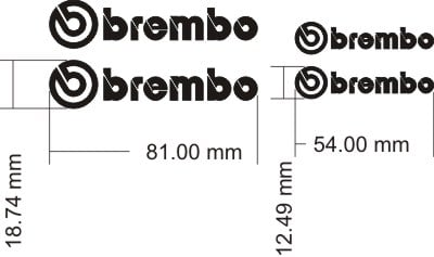 Brembo Replacement Caliper Decals