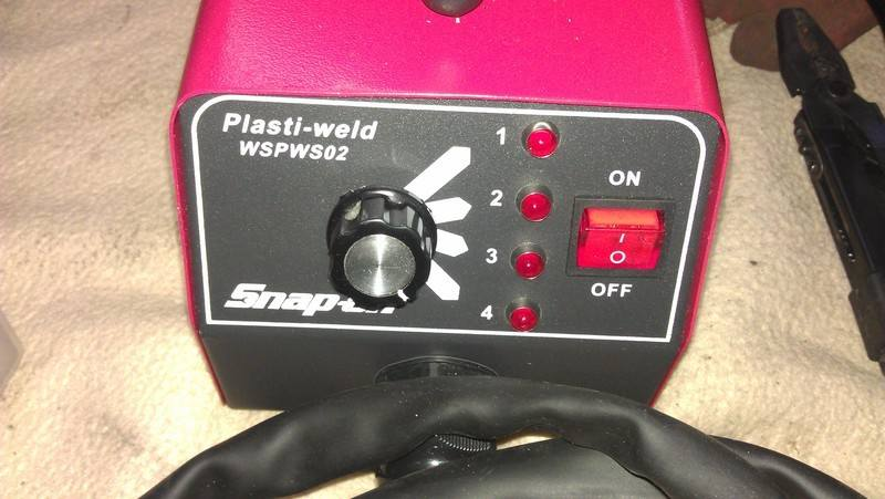 plastic welder close up