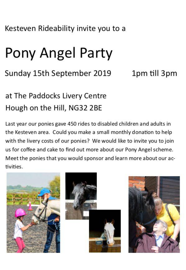pony angel invite