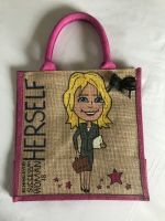 Handpainted bespoke personalised Jute bag - Behind every successful woman is HERSELF