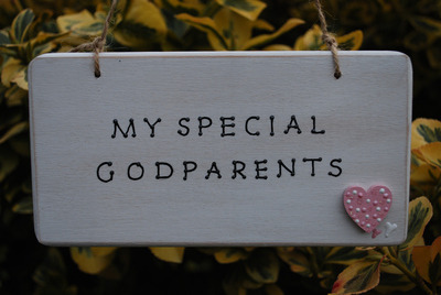 <!--007-->MY SPECIAL GODPARENTS - wooden plaque