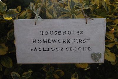 <!--001-->HOUSE RULES.. - Handmade humorous wooden plaque