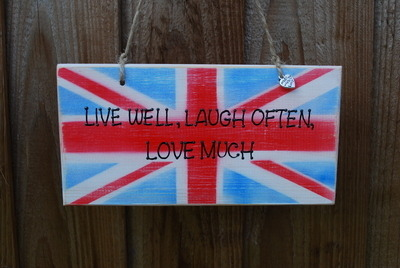 LIVE WELL, LAUGH OFTEN, LOVE MUCH - Handmade wooden plaque
