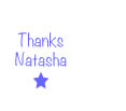thanksNatashanoteworthystar