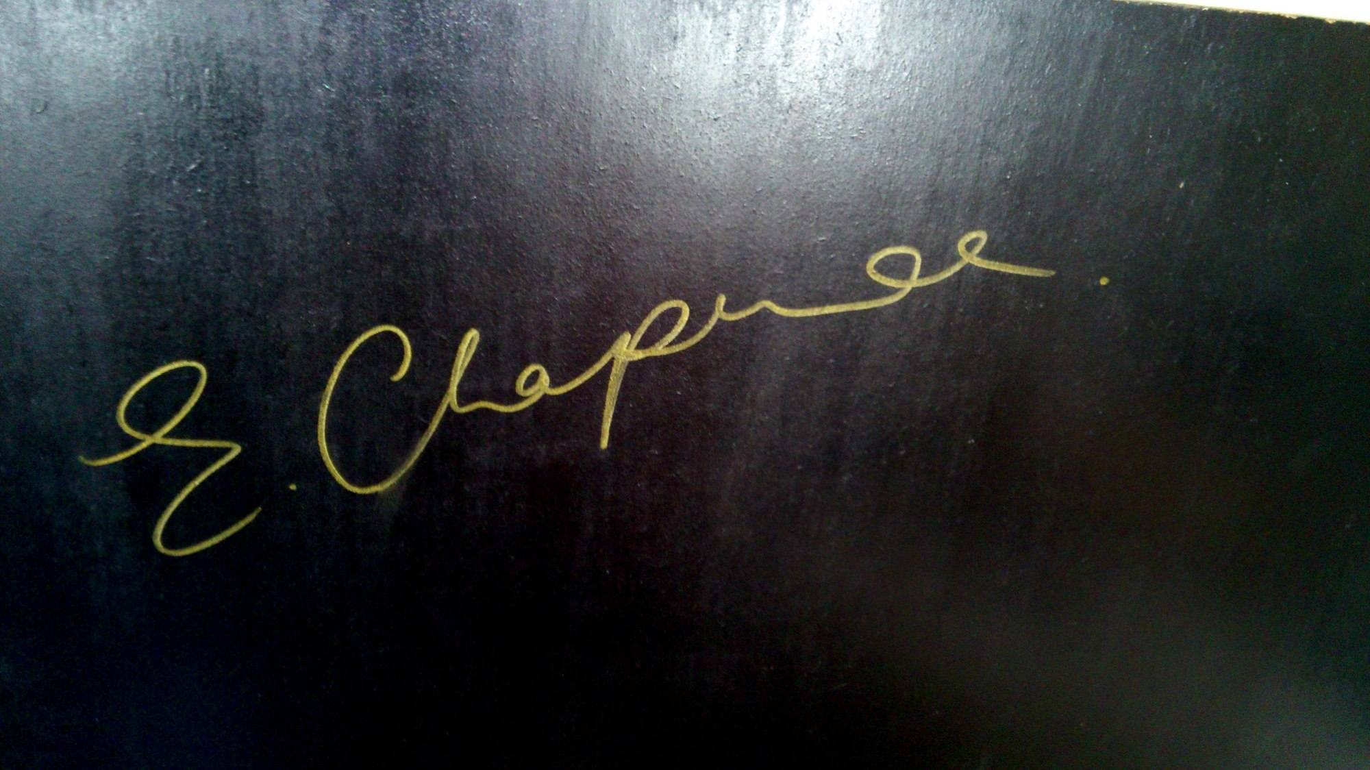 Ed Chapman signature on back of Bob Marley