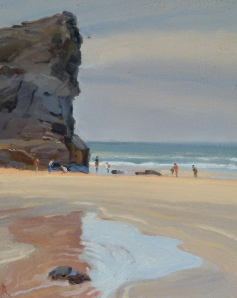 On the beach bedruthan steps 12 x 10