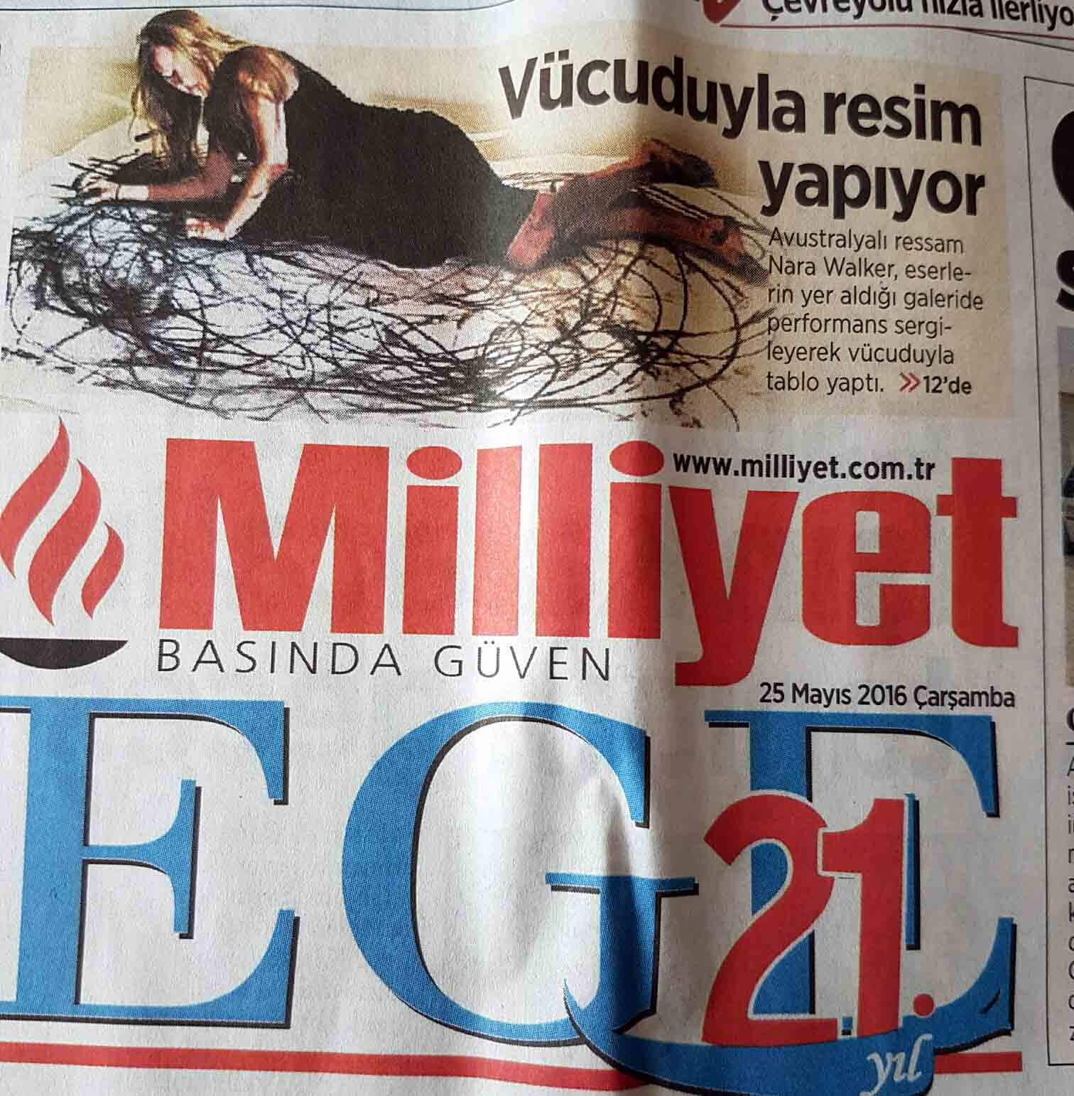 a BAC TURKISH PAPER PRINT