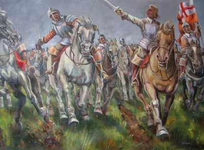 English Civil War painting by Leon Goodman