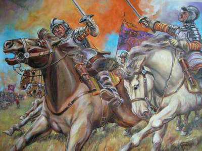English Civil War painting by Leon Goodman