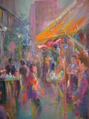 Paris scene by Leon Goodman