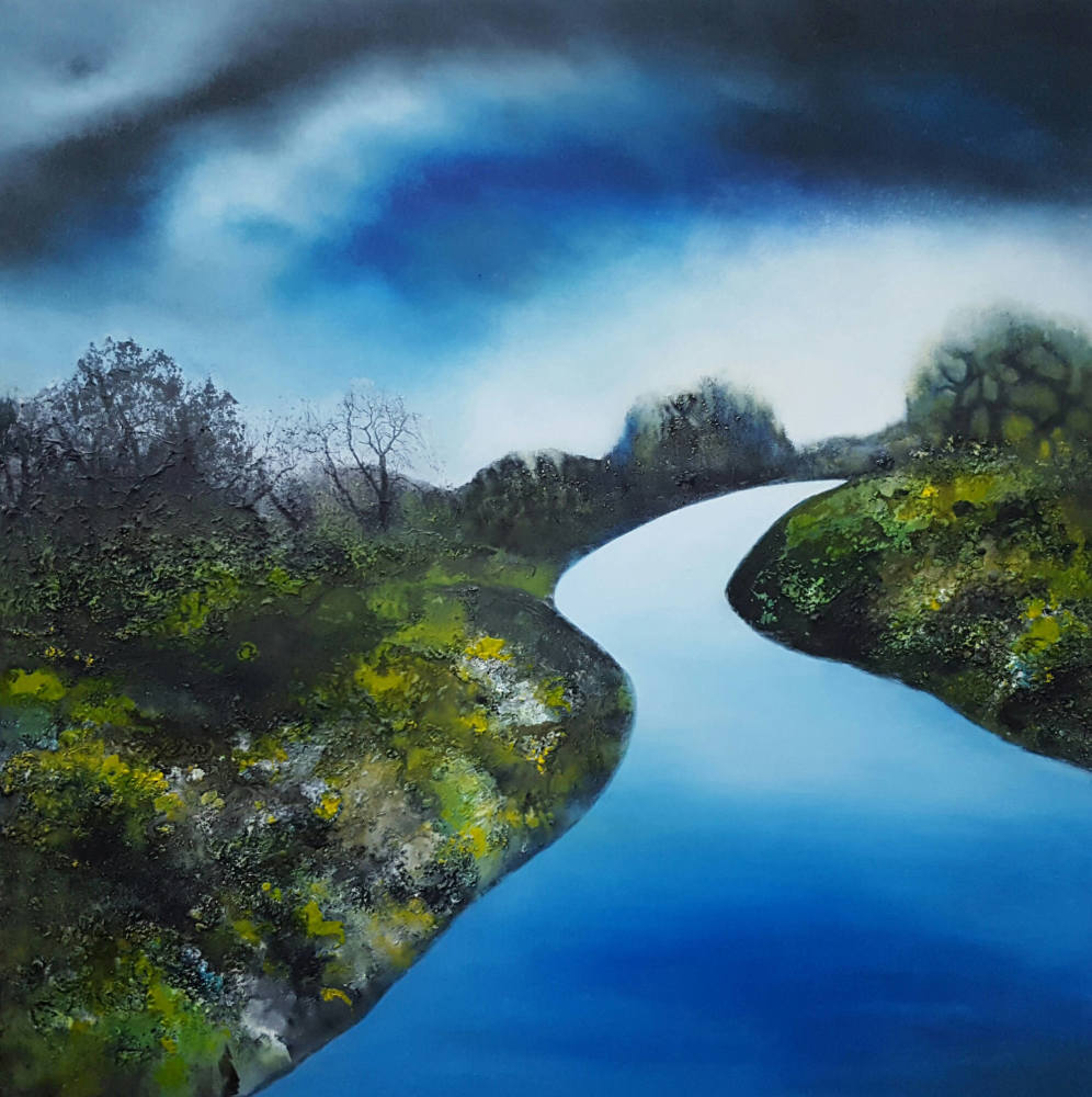 Blue River 100 x 100